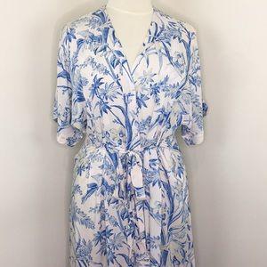 H&M Blue & White Floral Long Dress